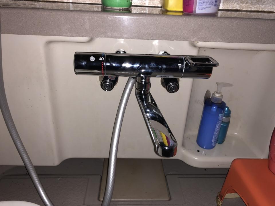 岩国市藤生 浴室蛇口水漏れ修理 蛇口交換