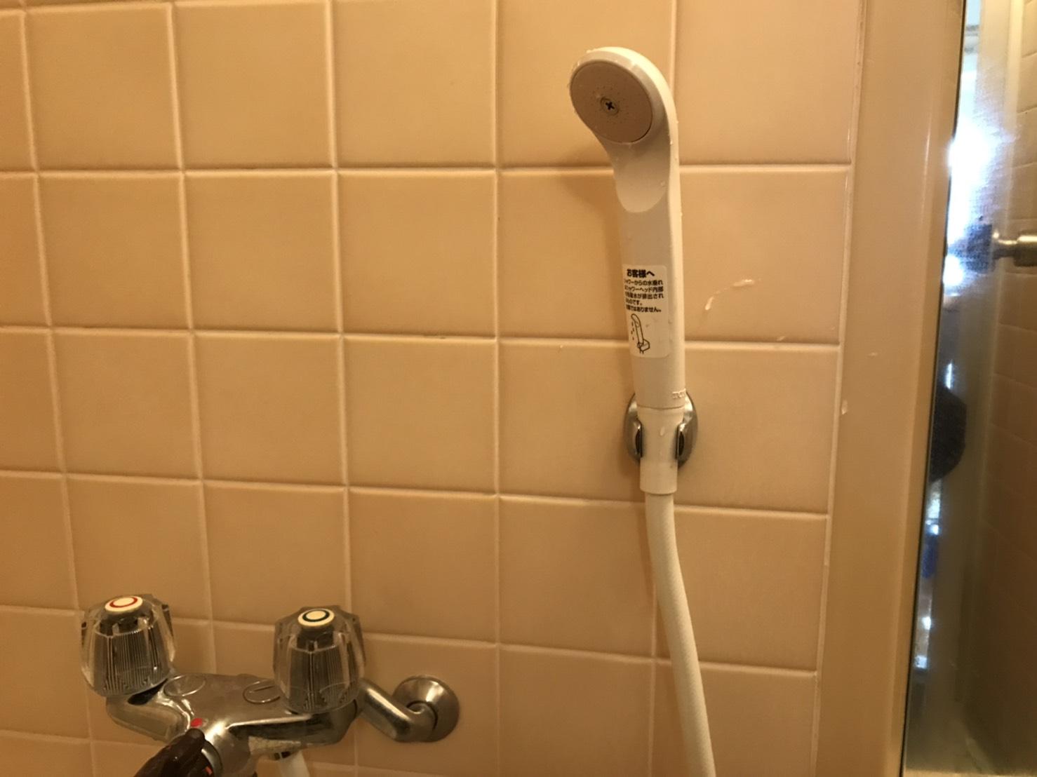 下松市桃山町 浴室蛇口シャワーホース交換