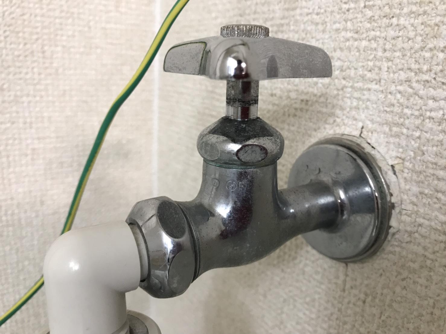 熊毛郡田布施町 洗濯蛇口水漏れ修理