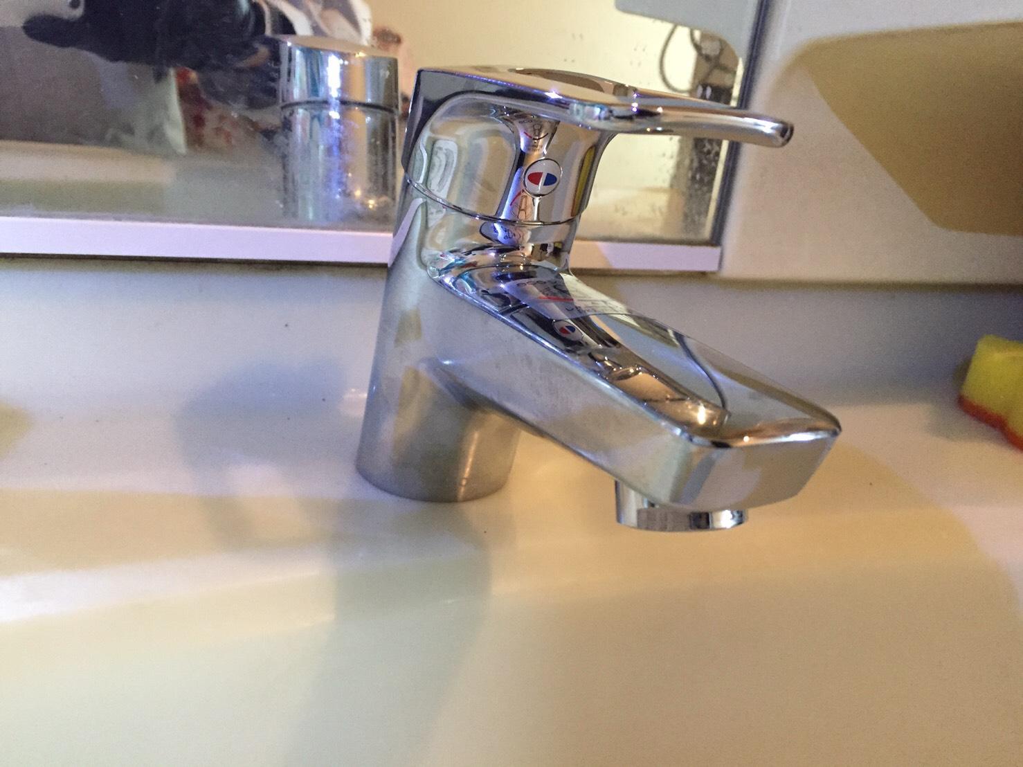 光市室積 洗面蛇口交換 水漏れ修理