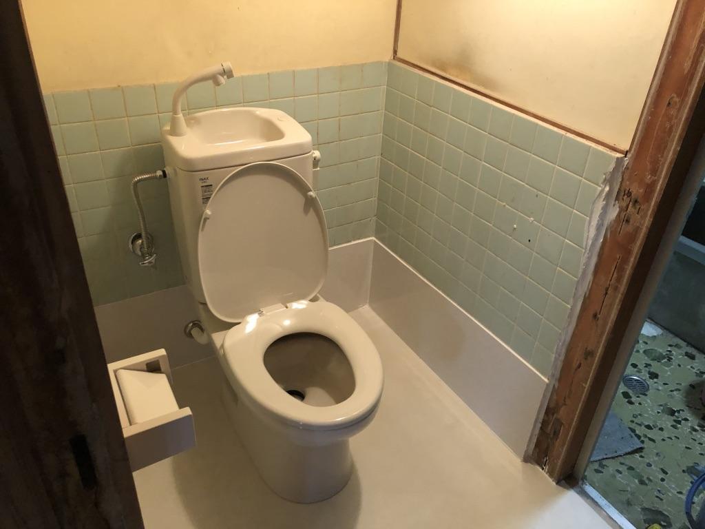 下松市 汲み取り和式トイレ リフォーム後